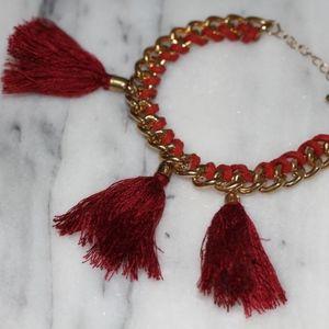 Red Tassel Gold Bracelet